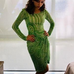 Jean Paul Gaultier Green Dress SZ S